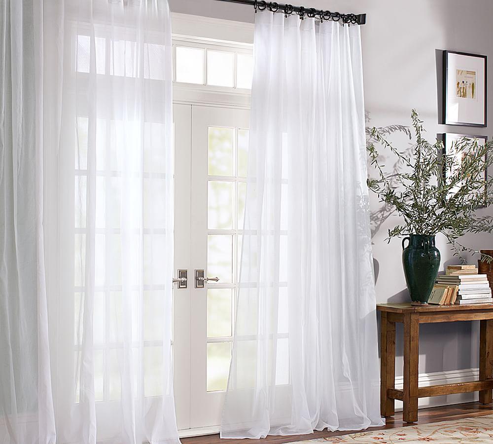 Voile Pole Pocket Curtain