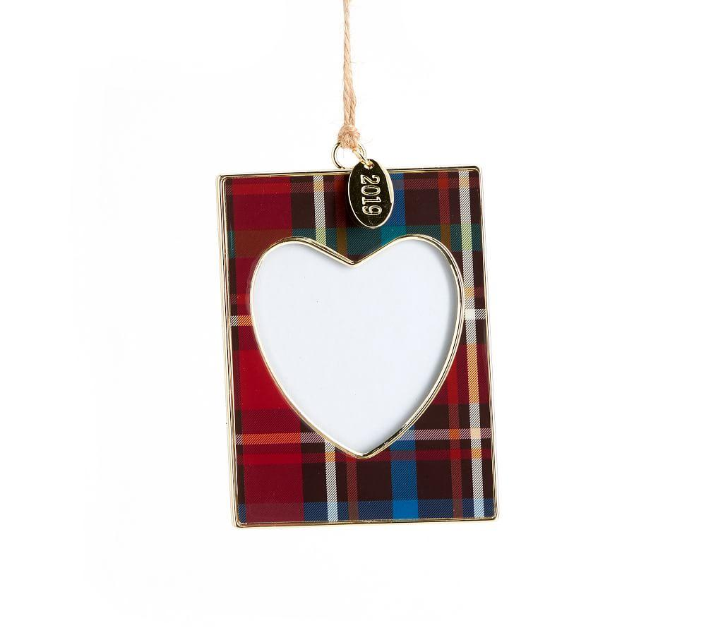 2019 Dated Enamel Frame Ornaments - Plaid