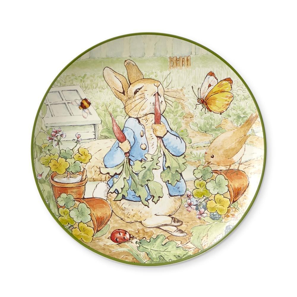 Pottery Barn Peter Rabbit Plates: Peter Rabbit Garden Salad Plates, Set Of 4