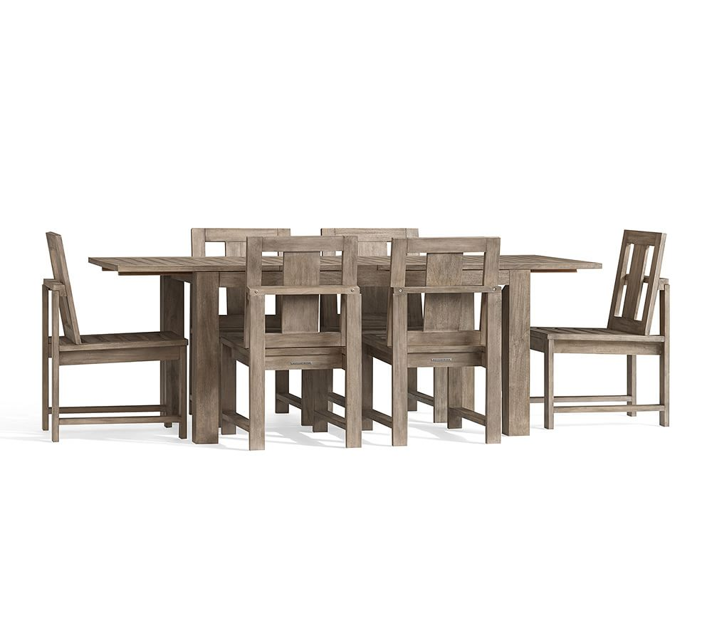 Indio Rectangular Extending Dining Table & Chair Set