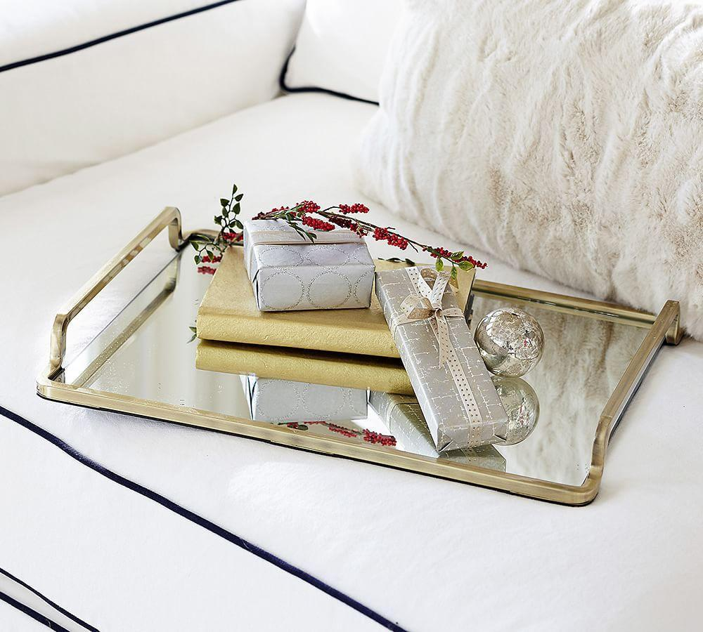 Lynn Brass & Mirror Tray