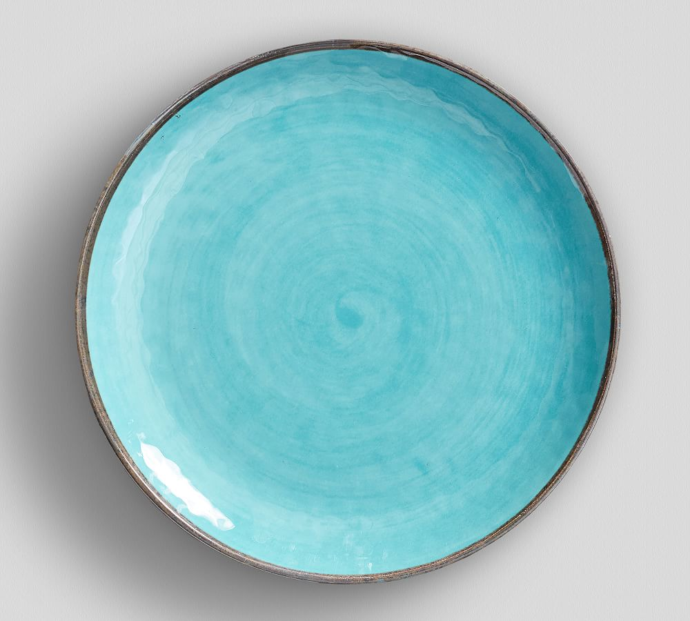 Swirl Melamine Dinner Plate - Turquoise
