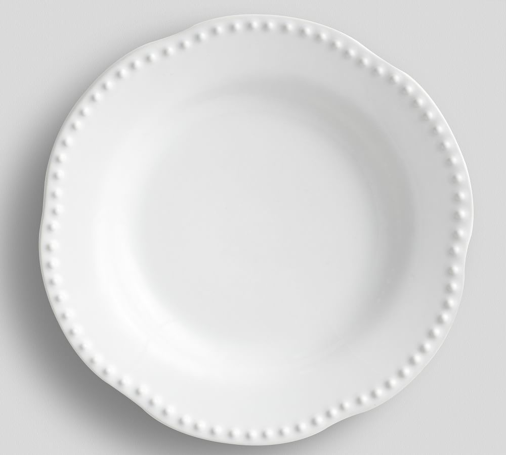 Emma Salad Plate - True White