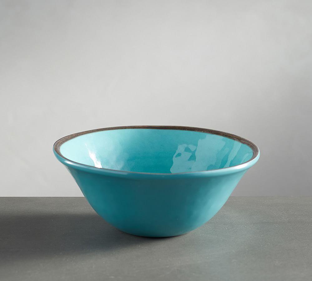 Swirl Melamine Individual Bowl - Turquoise