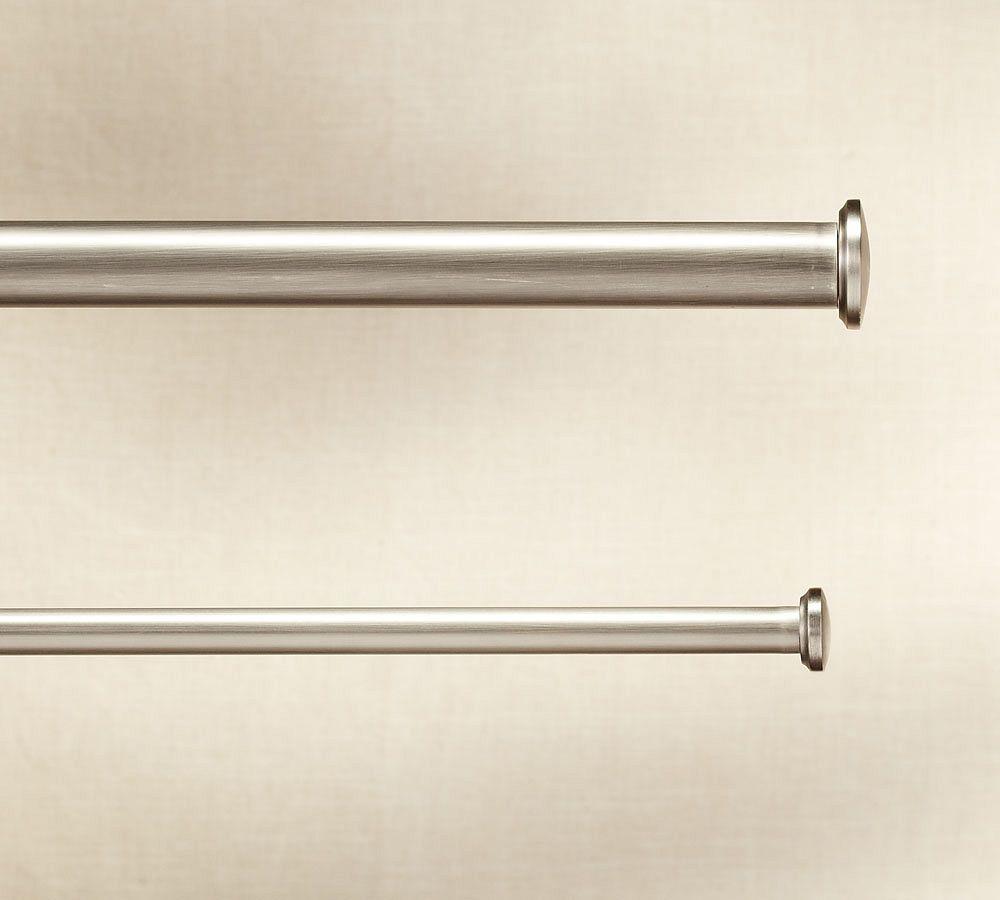 PB Standard Endcap Finial & Curtain Rod - Pewter finish