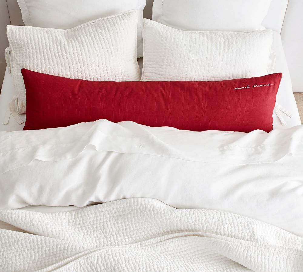 Pick-Stitch Handcrafted Cotton Linen Blend Coverlet & Pillowcases - Flax