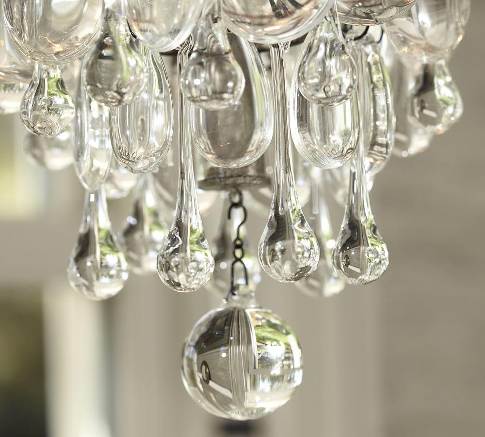 Clarissa Glass Drop Small Round Chandelier