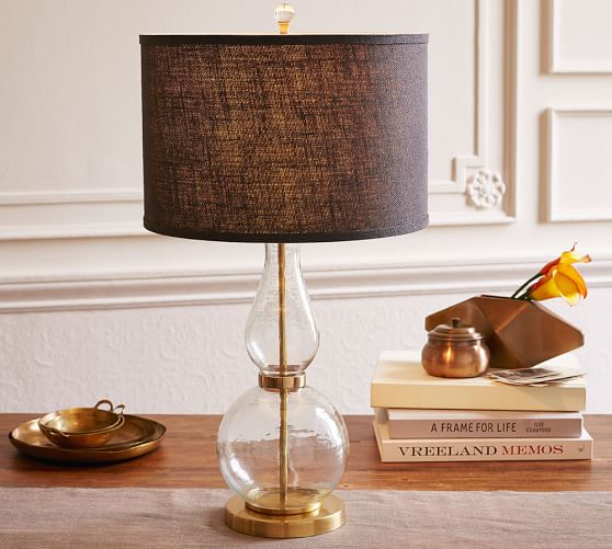 Jasmine Fluted Glass Table Lamp Base