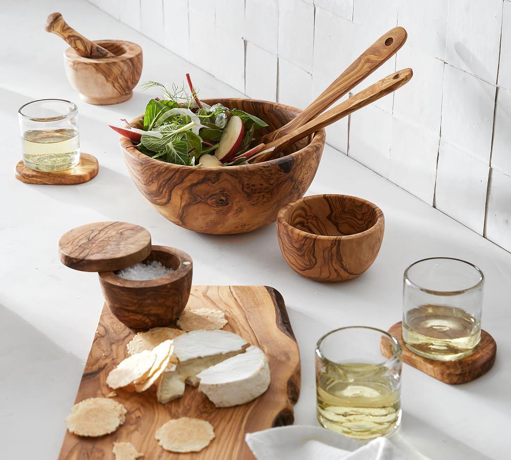 Olive Wood Rustic Edge Cheese Board