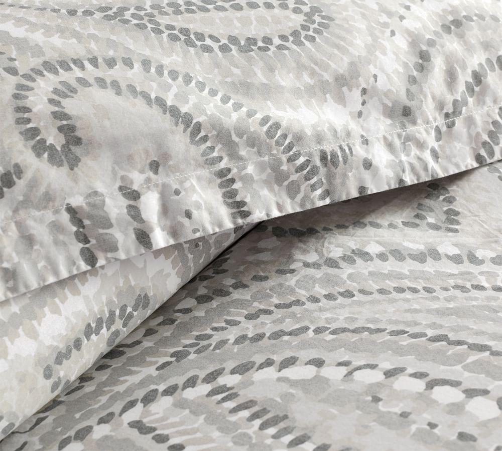 Darya Painterly Paisley Organic Sateen Quilt Cover & Pillowcases
