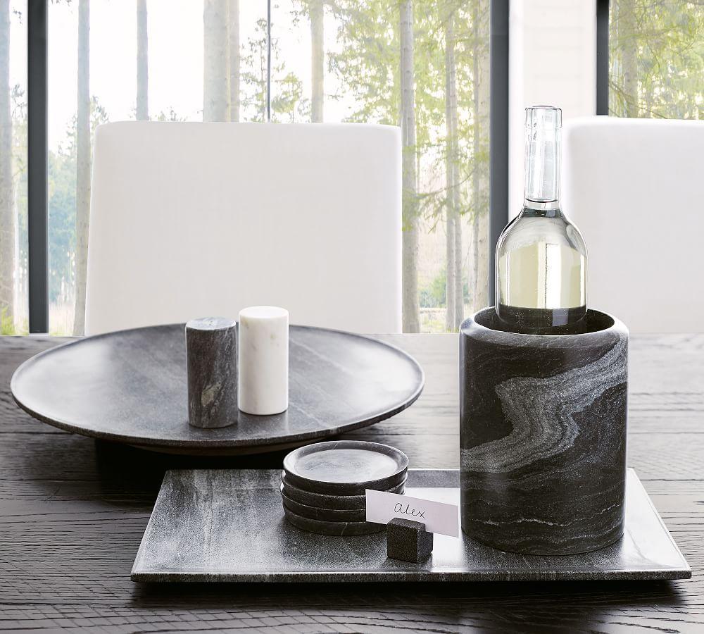Black & White Marble Salt & Pepper Shakers