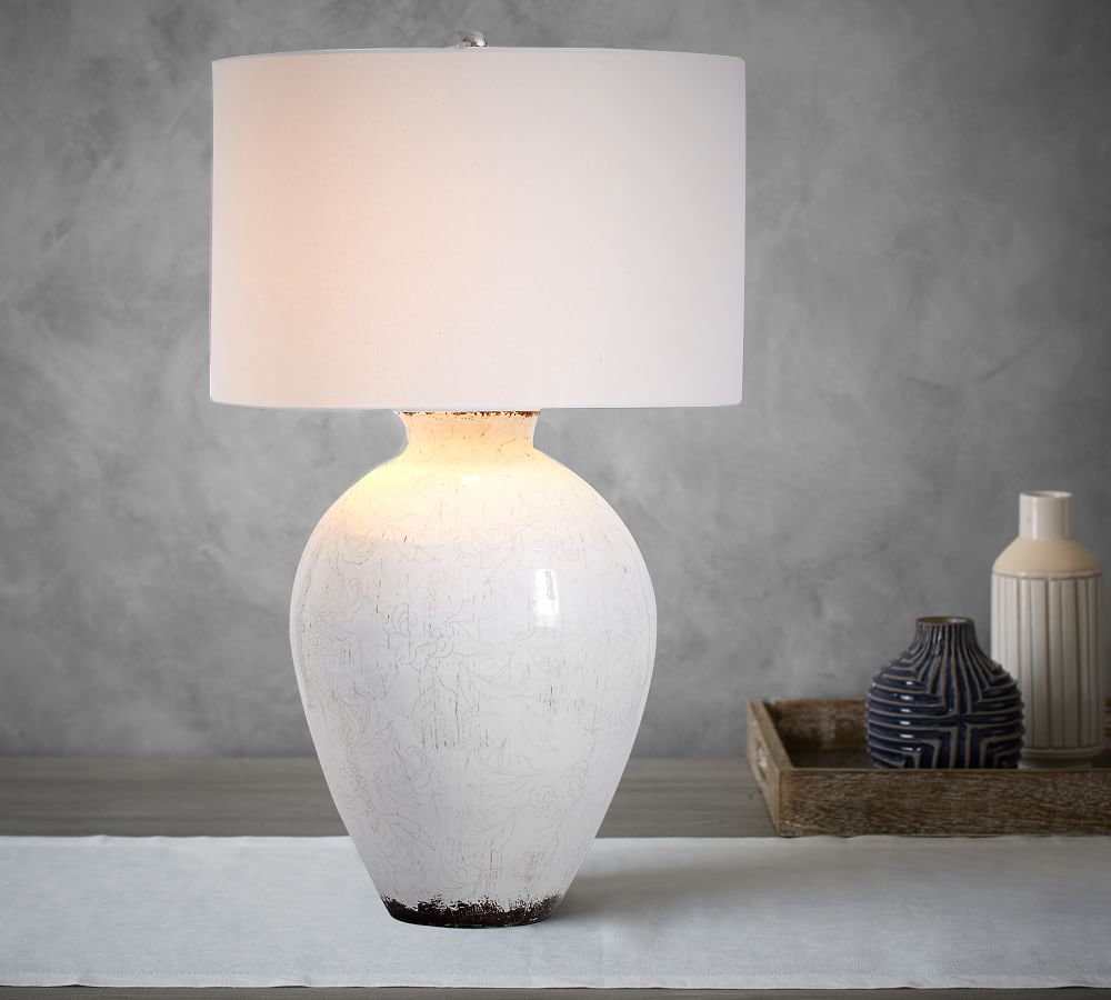Jamie Young Bethany Ceramic Urn Table Lamp