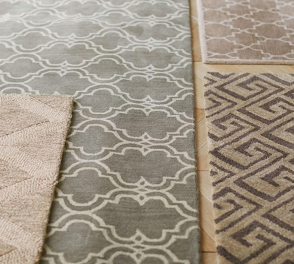 Scroll Tile Rug - Grey