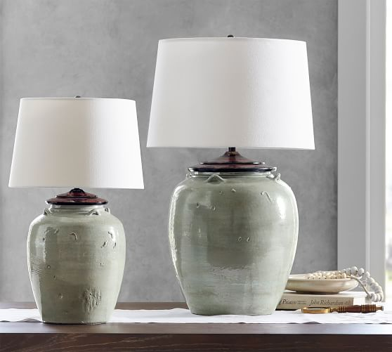 Courtney Ceramic Table Lamp - Blue