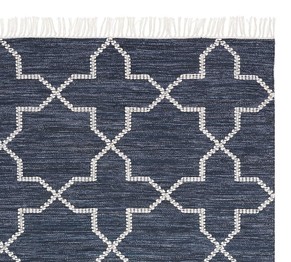 Haynes Synthetic Kilim Rug - Blue Multi