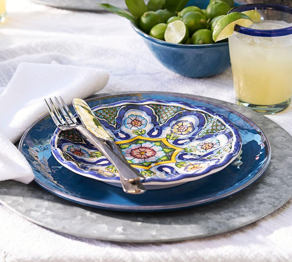 Del Sol Melamine Salad Plate - Mixed