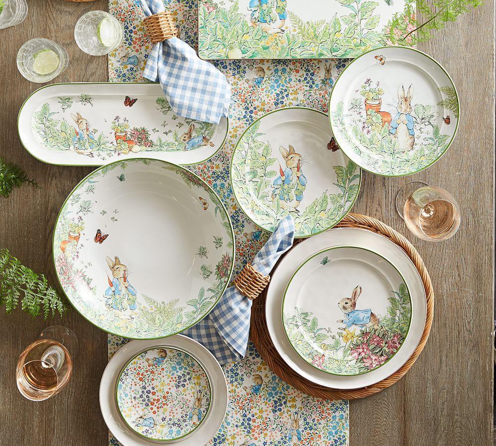 Peter Rabbit Garden Salad Plates Set Of 4 Assorted