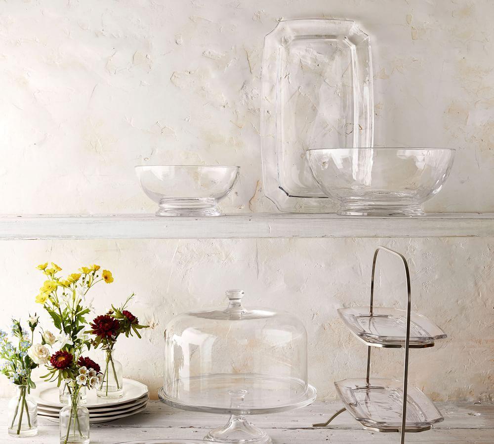 Grace Pressed Glass Serve Tray