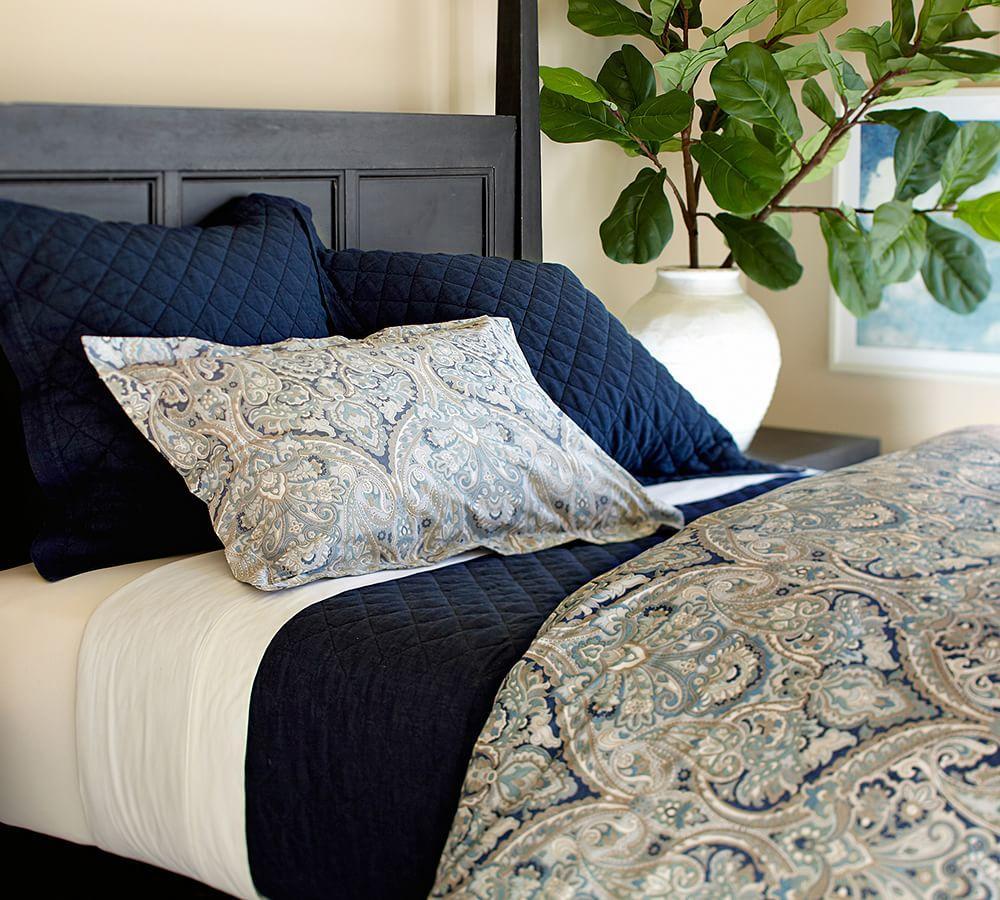 Mackenna Paisley Quilt Cover Amp Pillowcase Blue