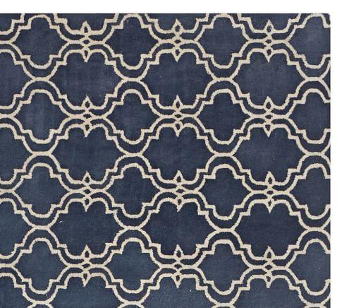 Scroll Tile Rug Indigo Blue Pottery Barn Au