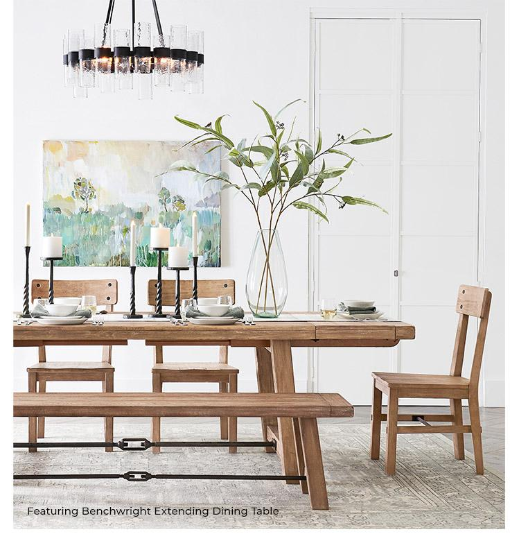 Featuring Benchwright Extending Dining Table