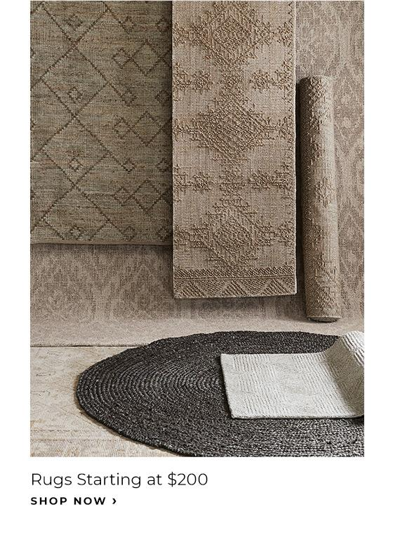 Rugs Starting at $200 - Shop Now