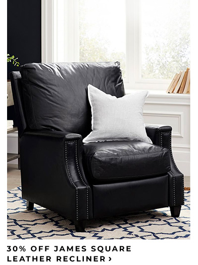 30% Off James Square Leather Recliner