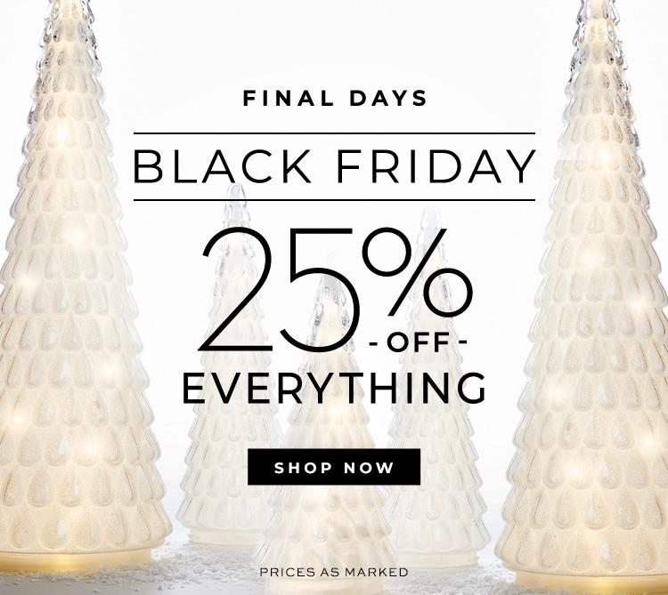 Black Friday 25% Off Everything!