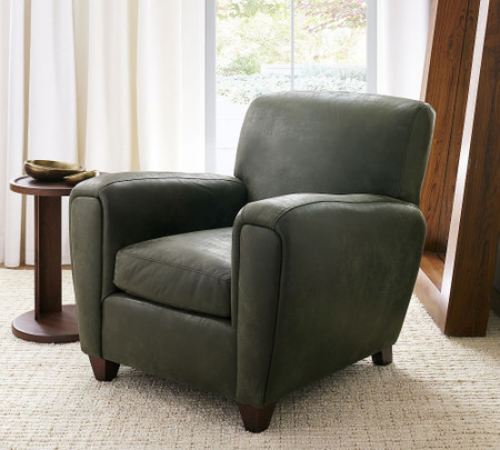Manhattan Square Arm Leather Armchair