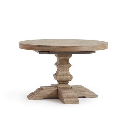 Banks Extending Round Dining Table - Grey Wash (122 - 183 cm)