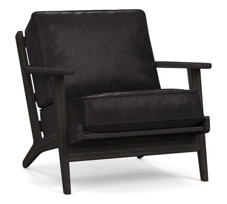 Raylan Leather Armchair - Vintage Midnight