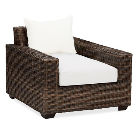 Torrey All-Weather Wicker Square Arm Occasional Chair