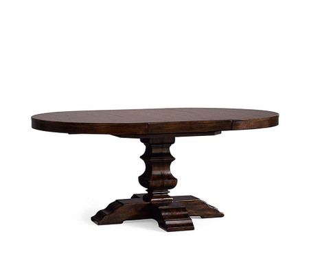 Banks Extending Round Dining Table - Alfresco Brown (122 - 183 cm)