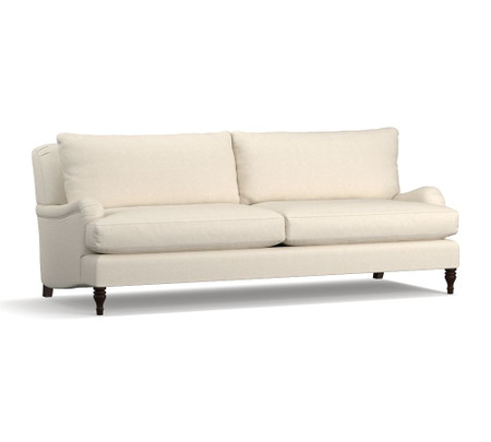 Carlisle Upholstered Grand Sofa - Flax (230 cm)