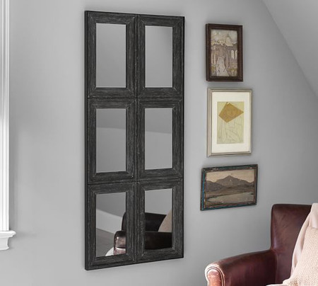Aiden Large Wall Mirror - Charcoal