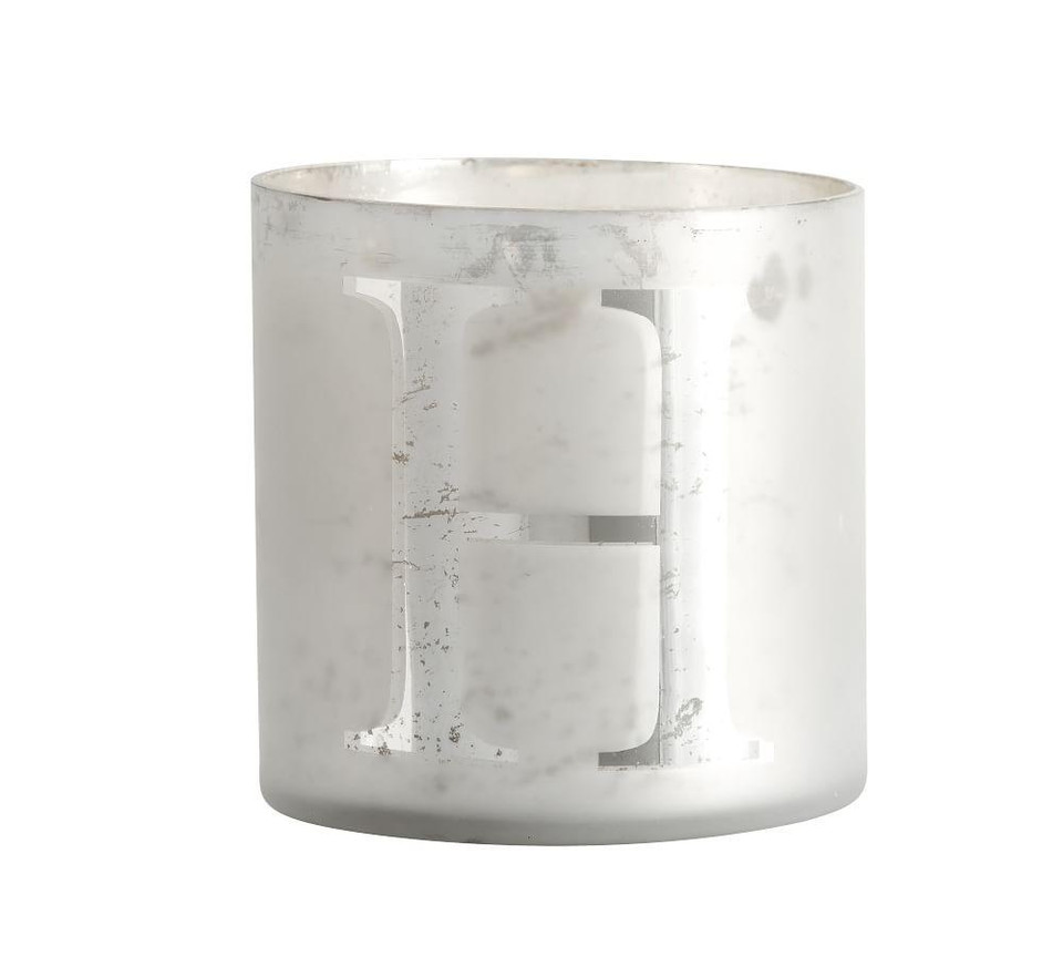 Alphabet Scented Candles - Frosted Pine