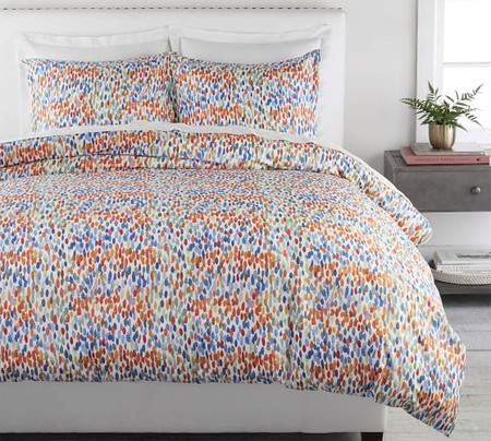 Annabel Watercolor Dot Organic Percale Quilt Cover & Pillowcases