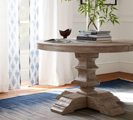 Banks Extending Round Dining Table, Pottery Barn Tables Round