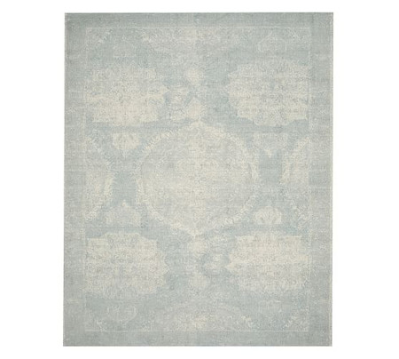 Barret Printed Rug - Porcelain Blue