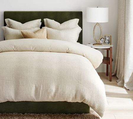 Belgian Linen Waffle Quilt Cover & Pillowcases - Flax