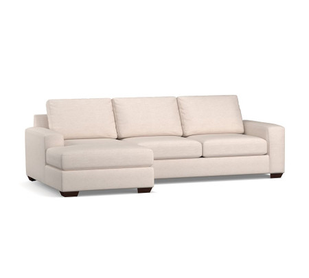 Big Sur Square Arm Upholstered Sofa With Chaise Sectional