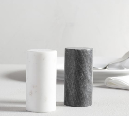 Black & White Marble Salt & Pepper Shakers