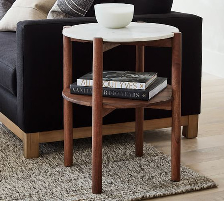 Bloomquist Round Marble Side Table