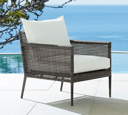 Cammeray All-Weather Wicker Occasional Chair, Grey
