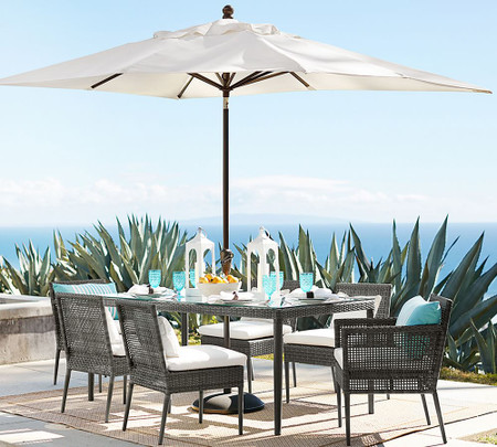 Cammeray All Weather Wicker Dining Table Pottery Barn Australia