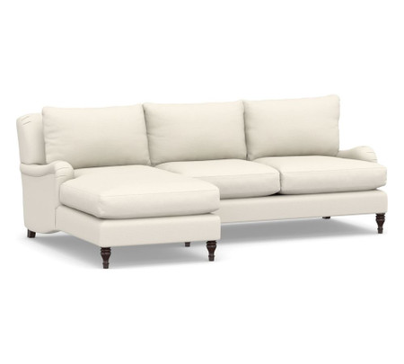 Carlisle Upholstered Sofa with Chaise Sectional (254 cm)
