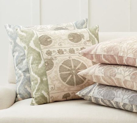 Carmine Embroidered Cushion Covers