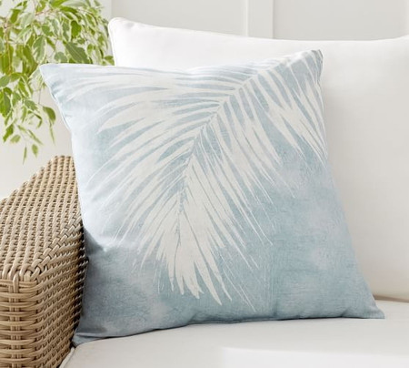 Chambray Palm Printed Indoor/Outdoor Cushion