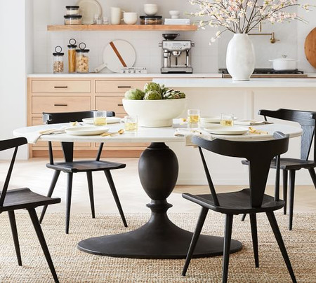 Chapman Marble Oval Dining Table