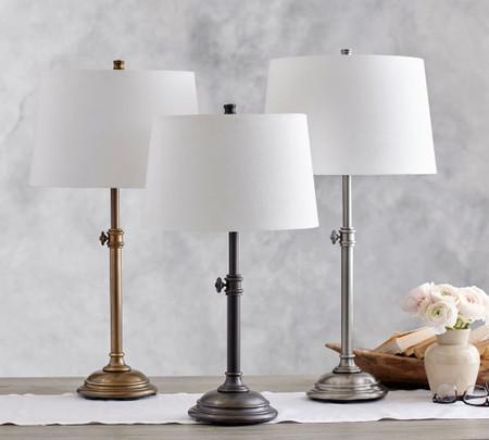 Chelsea Adjustable Table Bedside Lamp Base Pottery Barn Australia